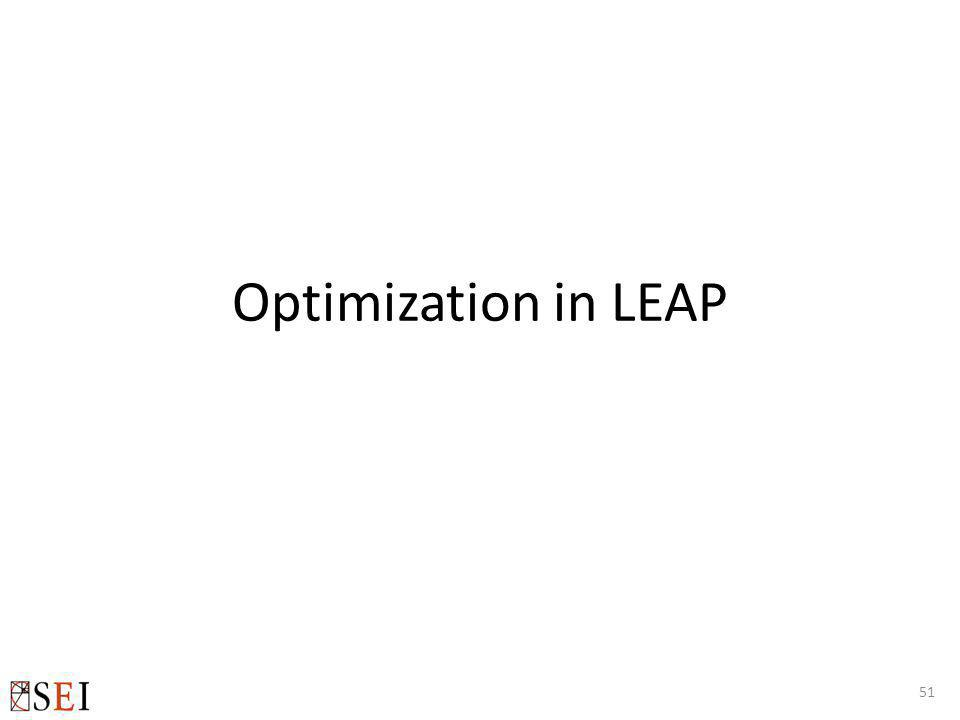 Optimization in LEAP