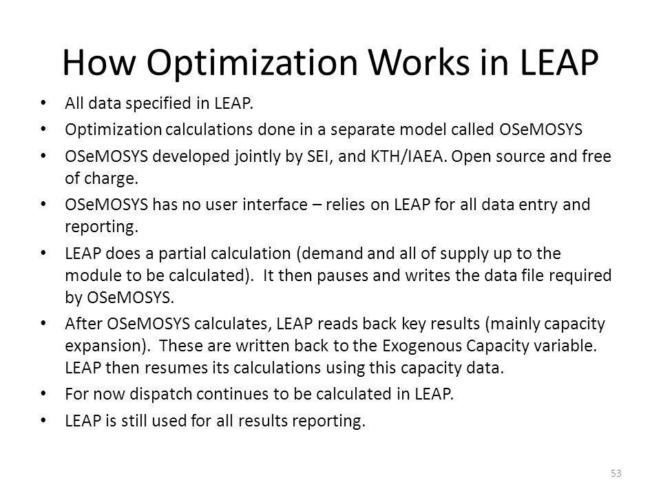 How Optimization Works in LEAP