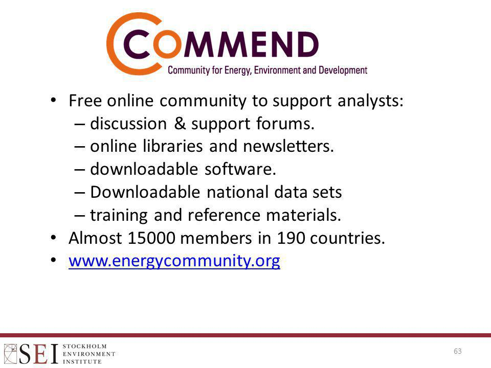 Free online community to support analysts: