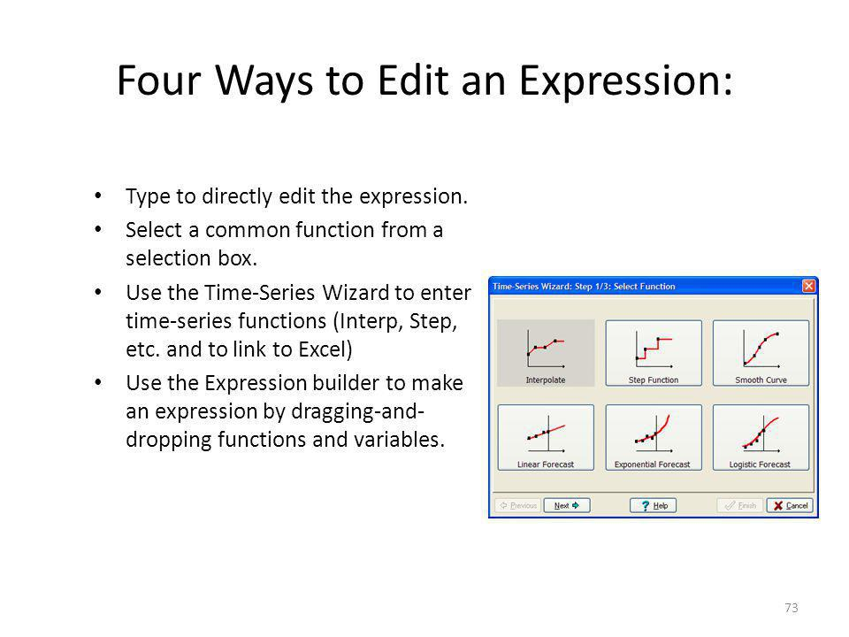 Four Ways to Edit an Expression:
