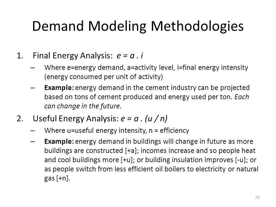 Demand Modeling Methodologies