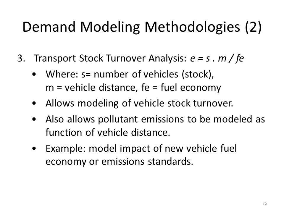 Demand Modeling Methodologies (2)