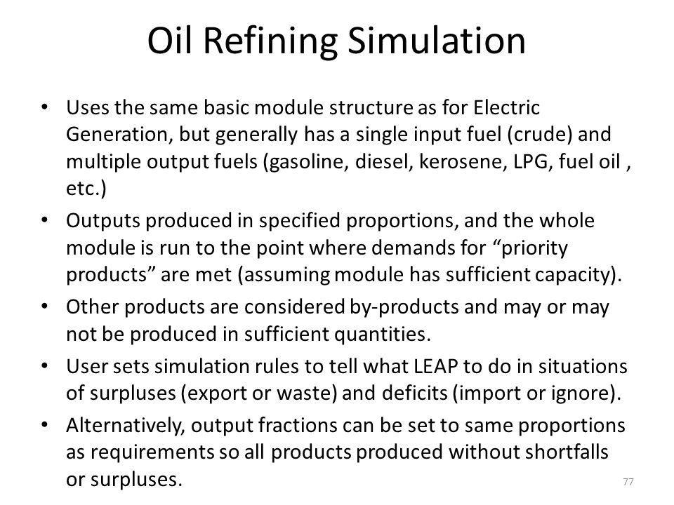 Oil Refining Simulation