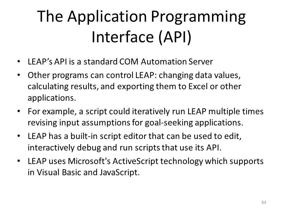 The Application Programming Interface (API)