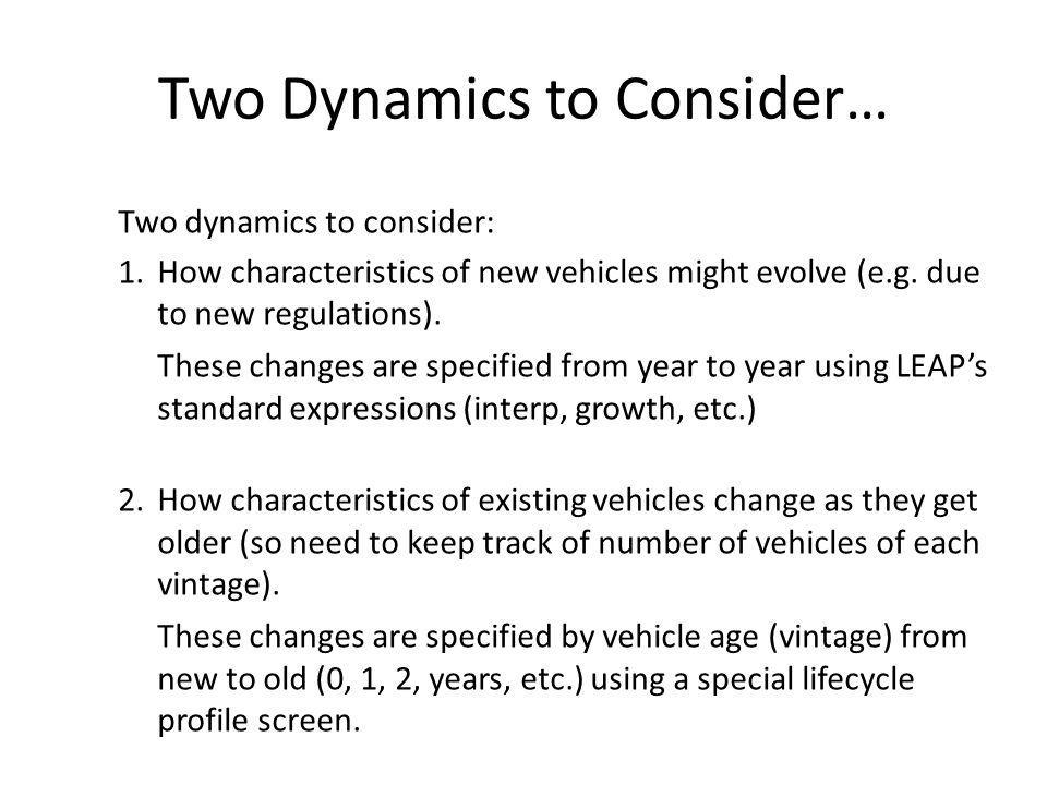 Two Dynamics to Consider…