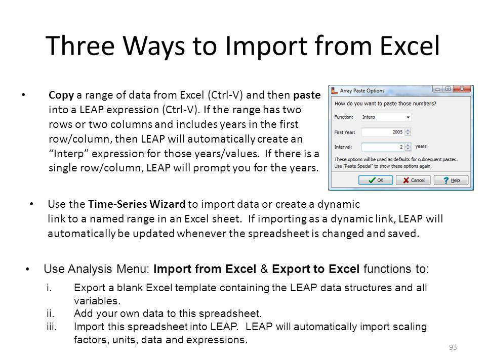 Three Ways to Import from Excel
