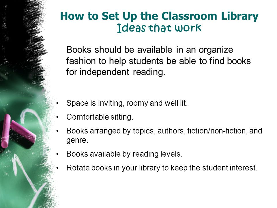 How to Set Up the Classroom Library Ideas that work