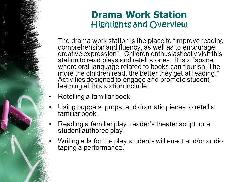 Drama Work Station Highlights and Overview