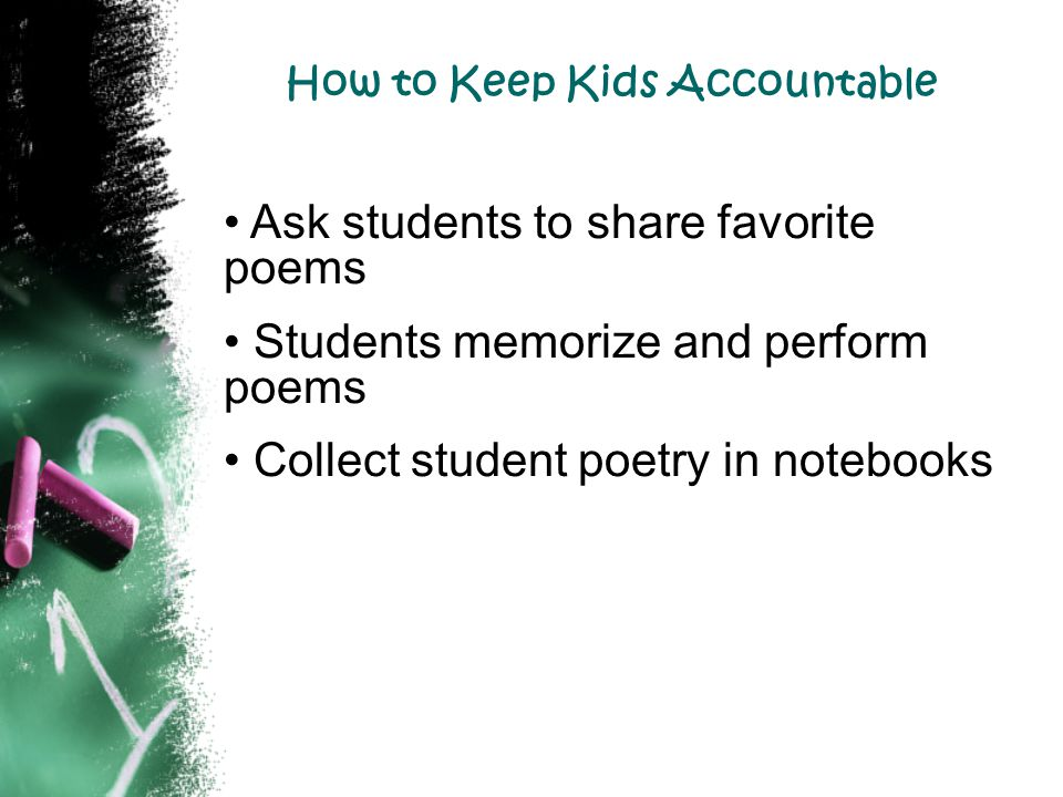 How to Keep Kids Accountable