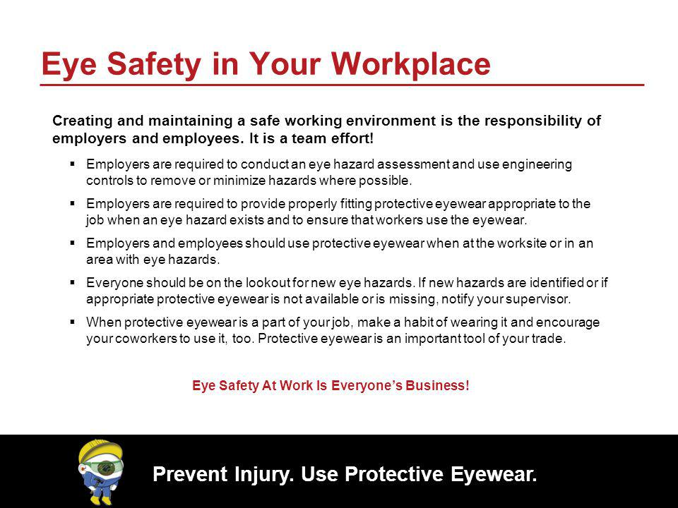 Eye Safety in Your Workplace