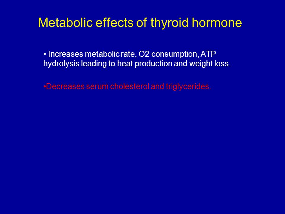 Metabolic effects of thyroid hormone