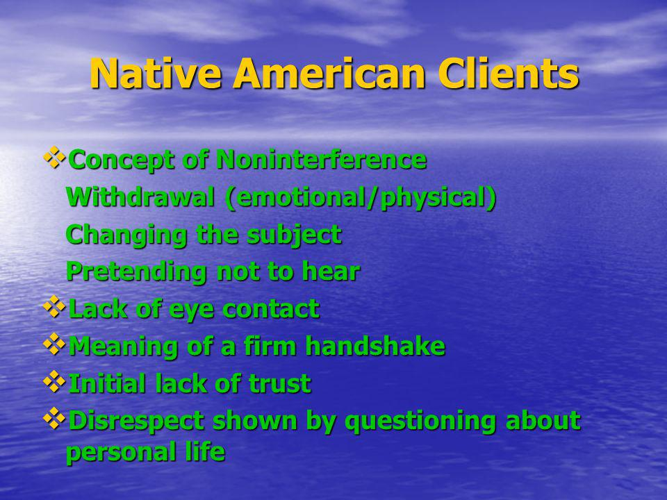 Native American Clients