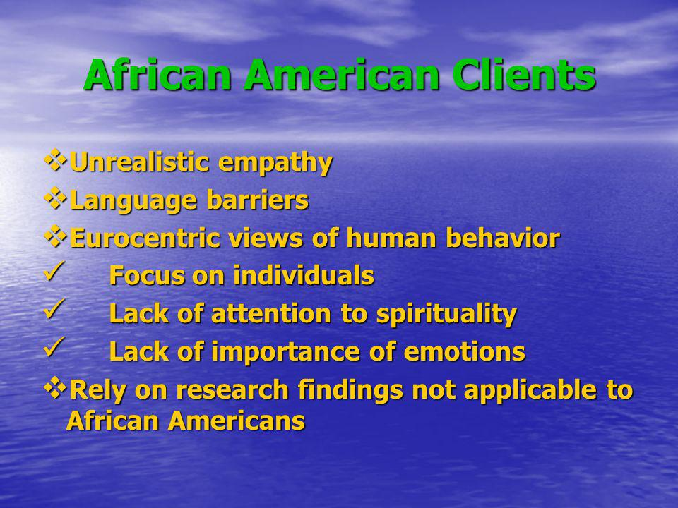 African American Clients