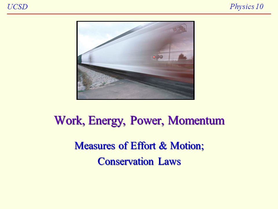 Work, Energy, Power, Momentum