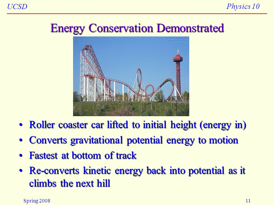 Energy Conservation Demonstrated