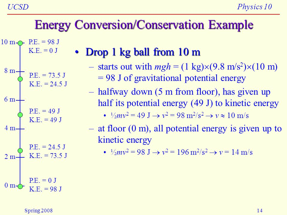 Energy Conversion/Conservation Example