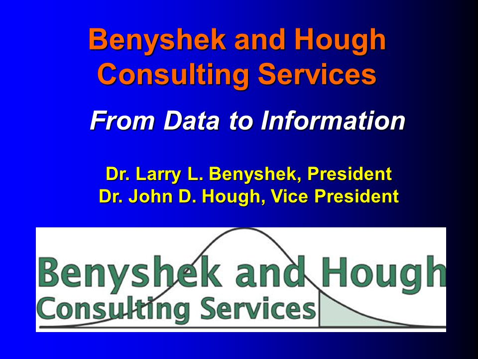 Benyshek and Hough Consulting Services