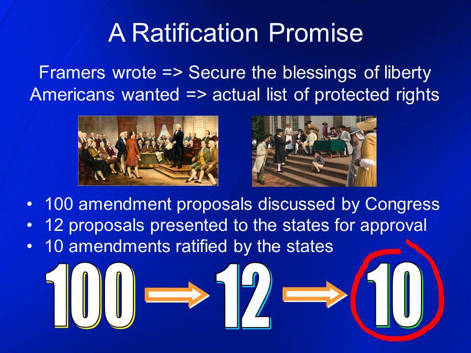 A Ratification Promise