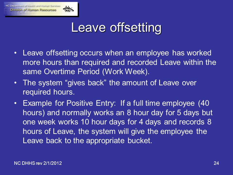 Leave offsetting