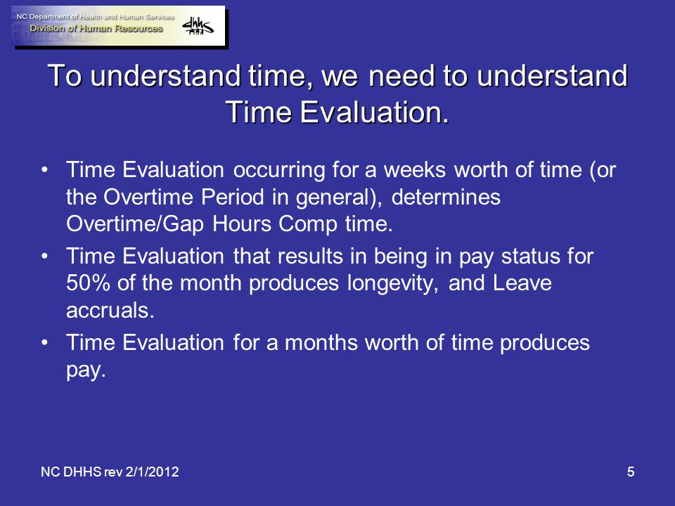 To understand time, we need to understand Time Evaluation.