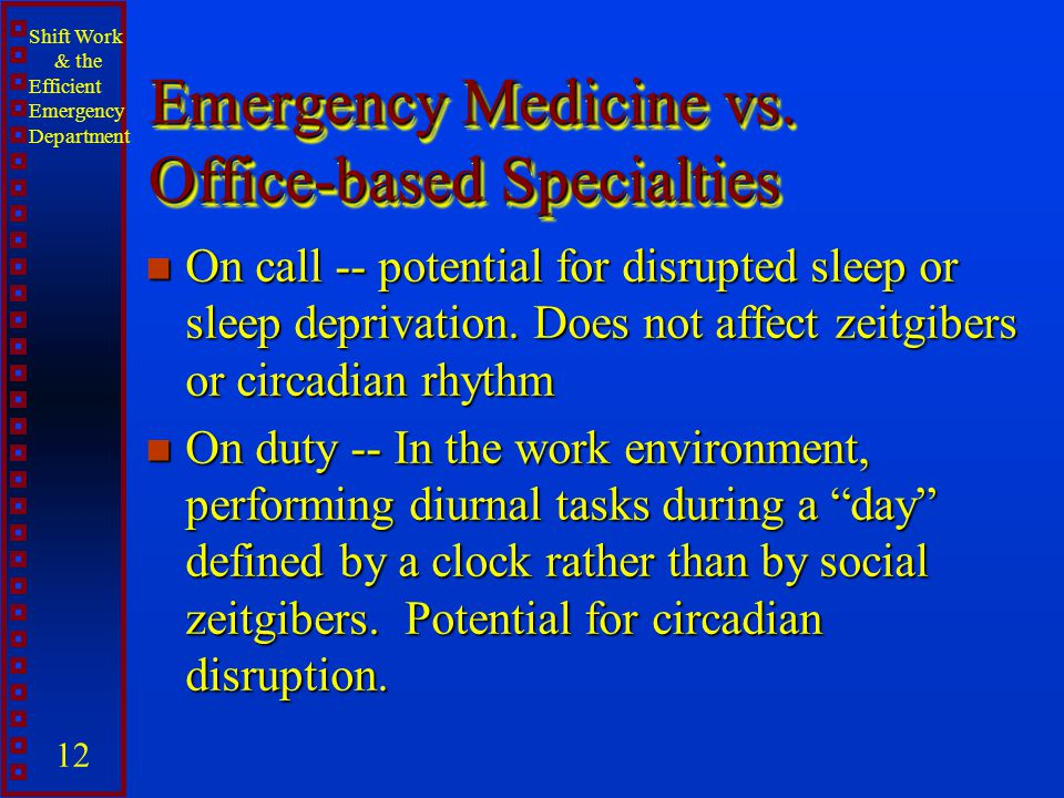 Emergency Medicine vs. Office-based Specialties