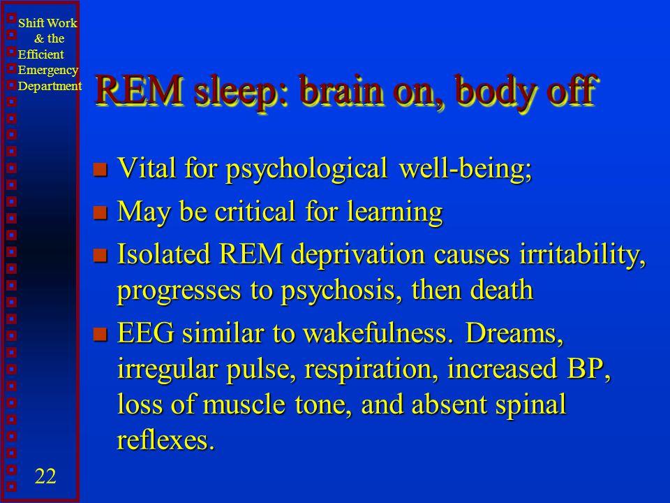 REM sleep: brain on, body off