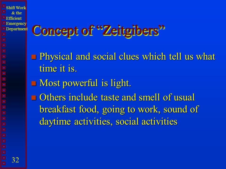 Concept of Zeitgibers