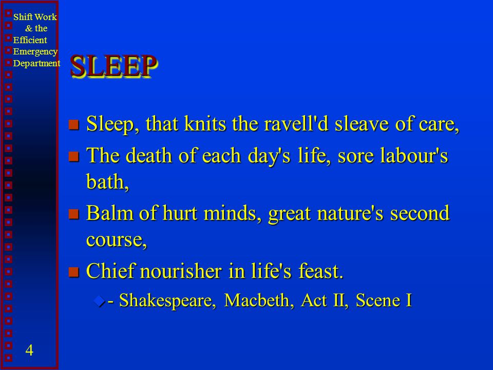 SLEEP Sleep, that knits the ravell d sleave of care,