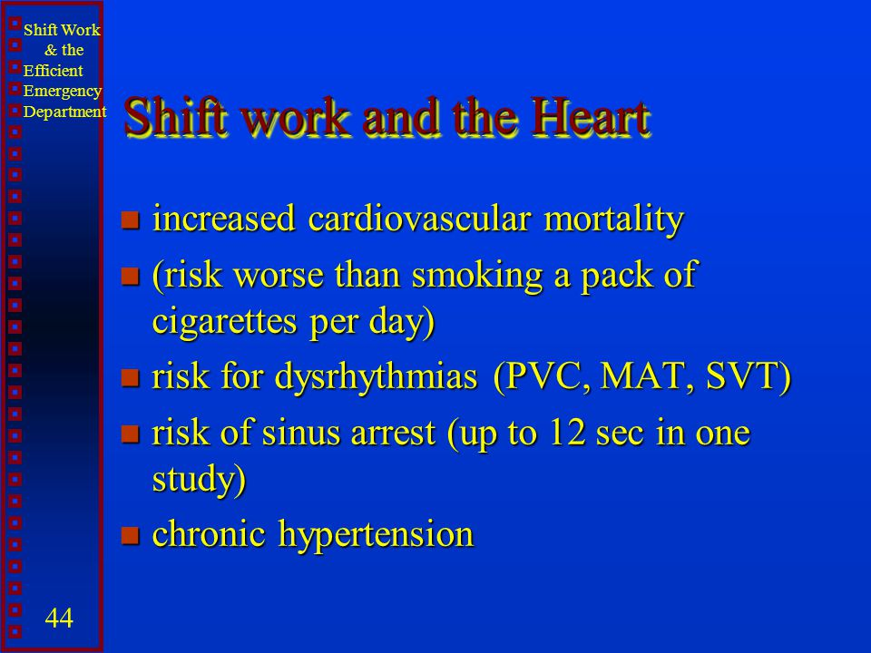 Shift work and the Heart