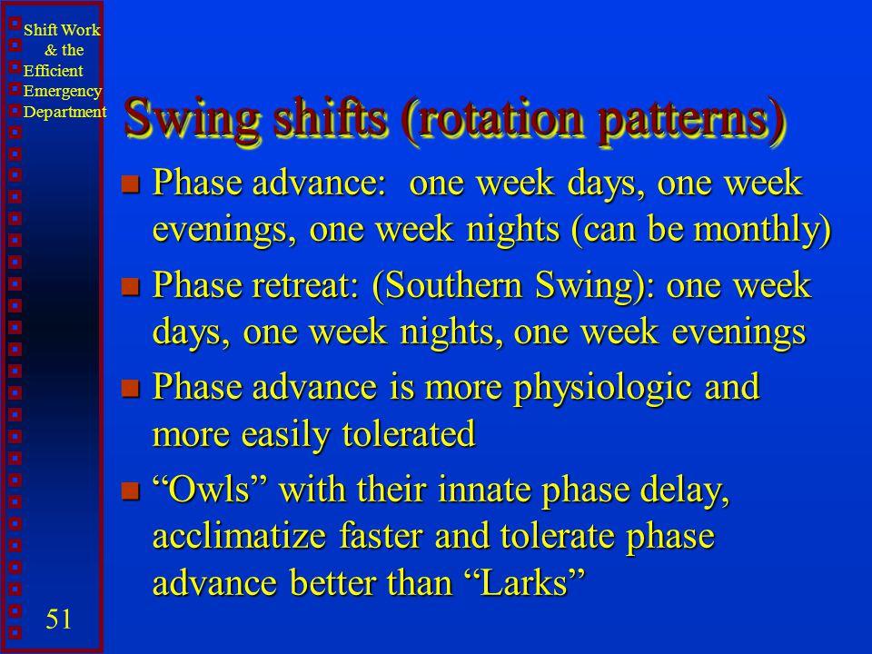 Swing shifts (rotation patterns)