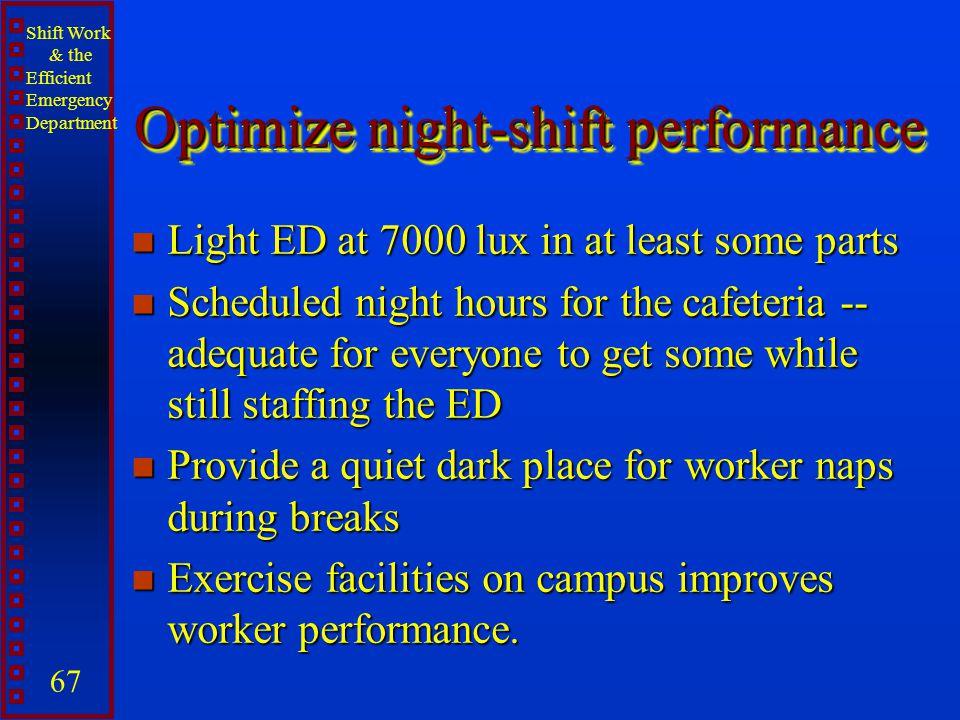 Optimize night-shift performance