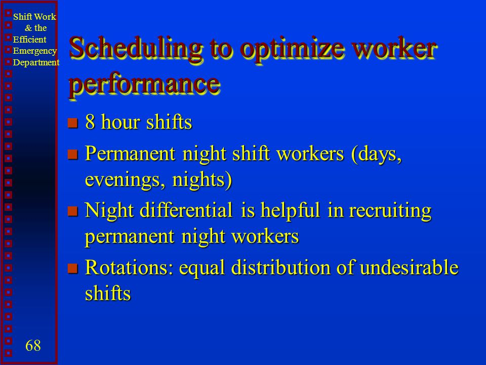 Scheduling to optimize worker performance