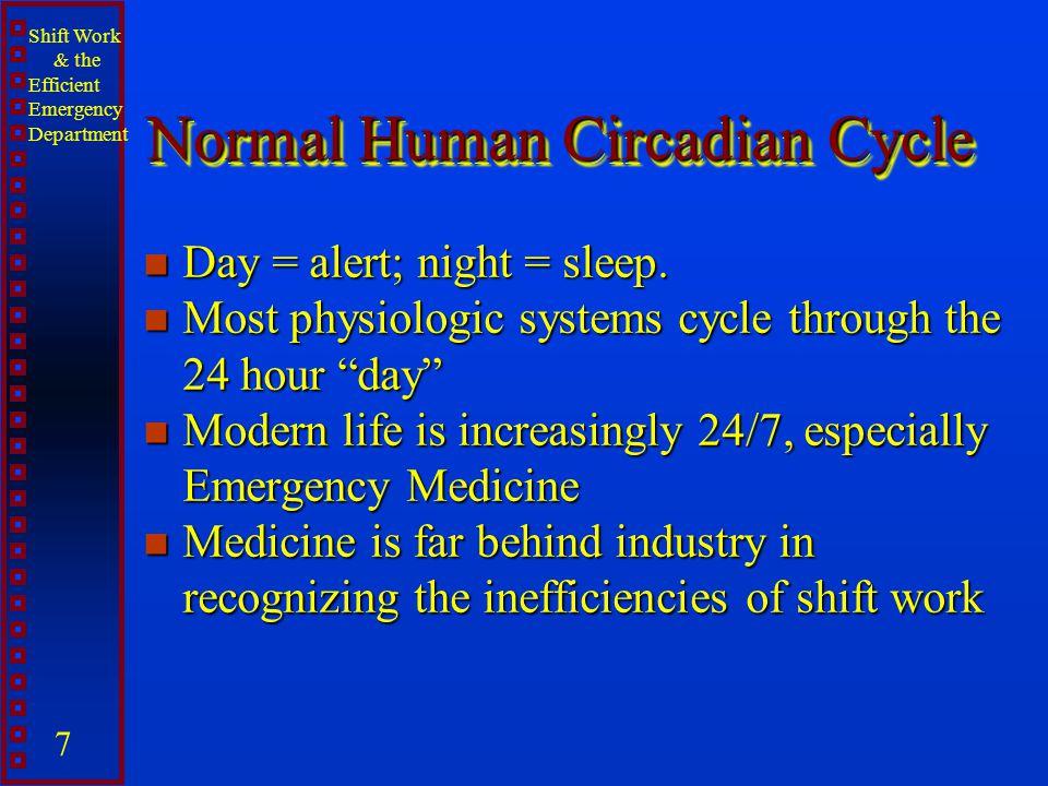 Normal Human Circadian Cycle