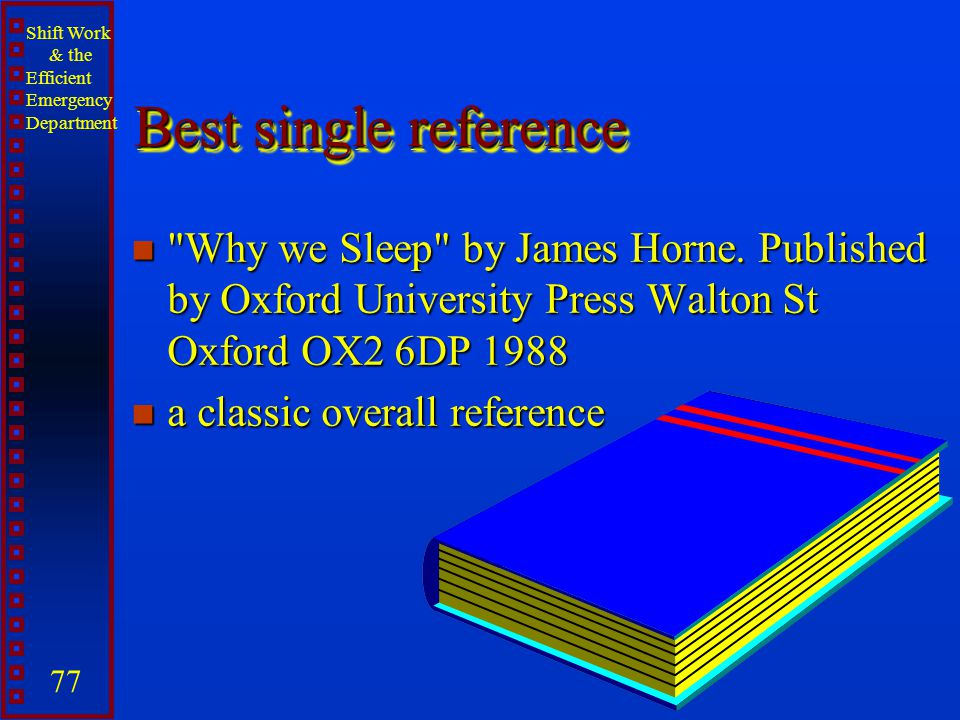 Best single reference Why we Sleep by James Horne. Published by Oxford University Press Walton St Oxford OX2 6DP 1988.