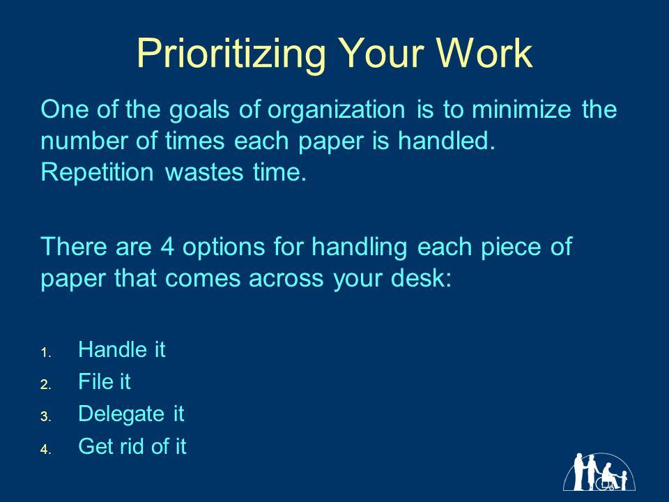 Prioritizing Your Work