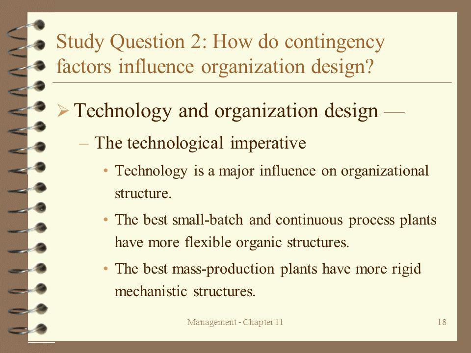 Technology and organization design —
