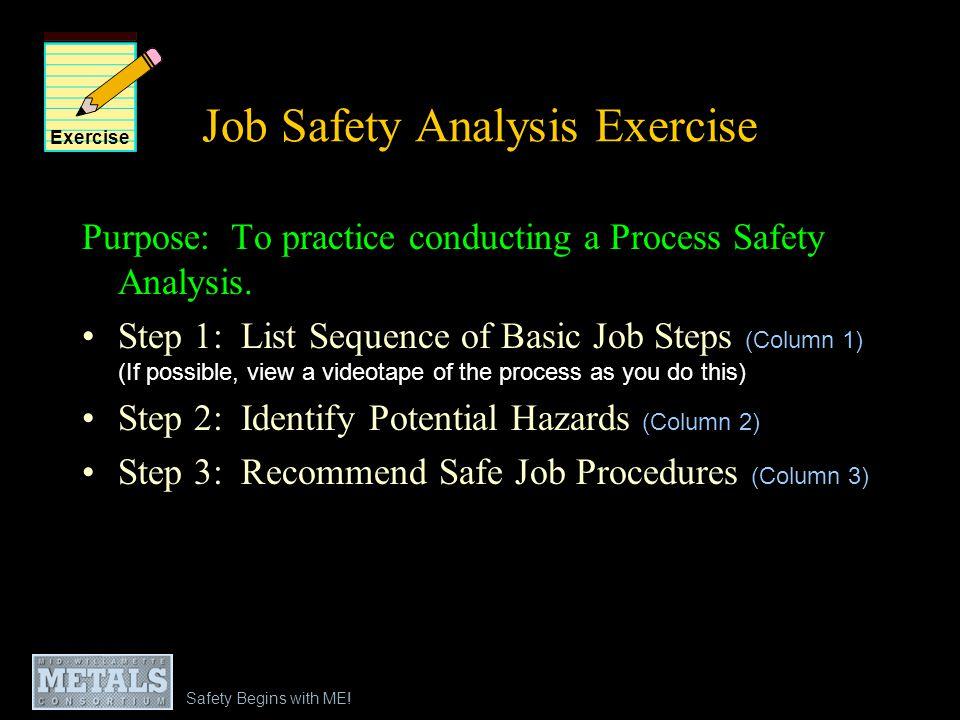 Job Safety Analysis Exercise