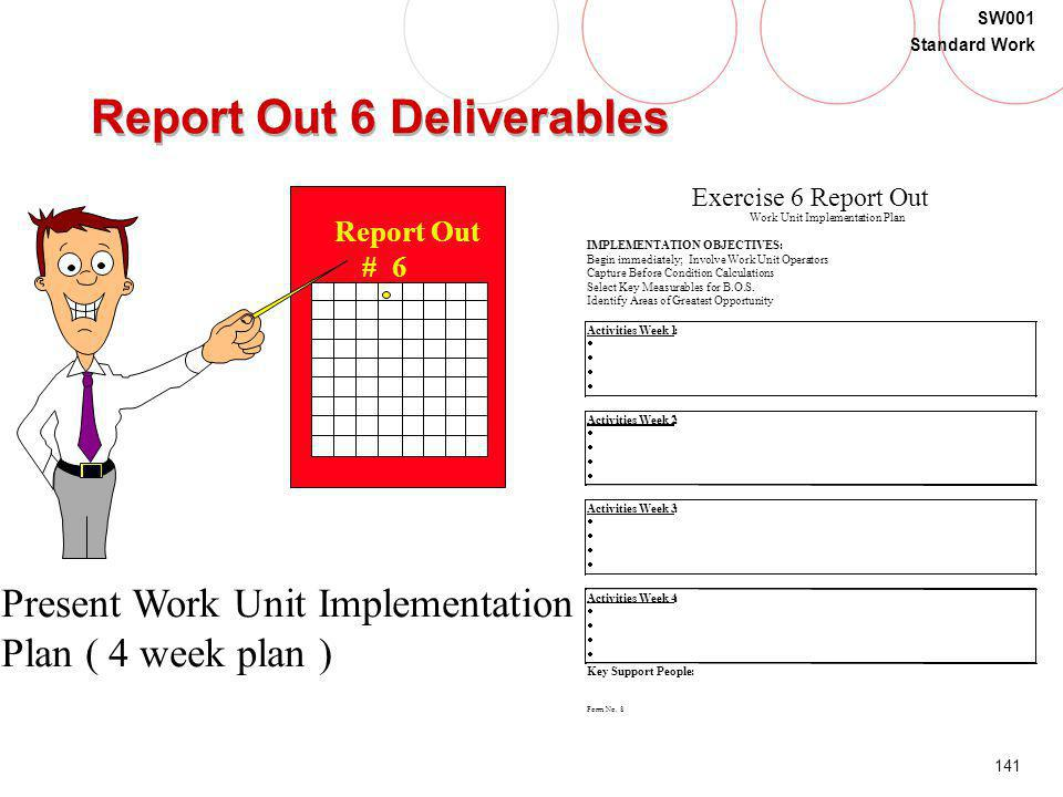 Report Out 6 Deliverables