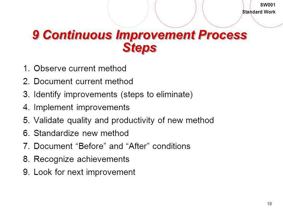 9 Continuous Improvement Process Steps