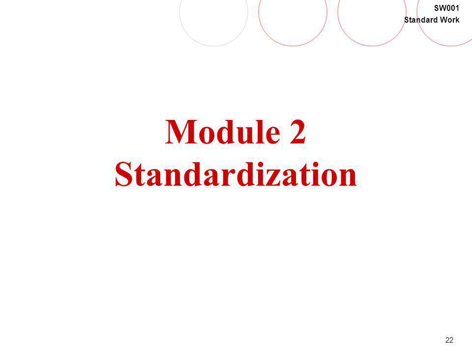Module 2 Standardization