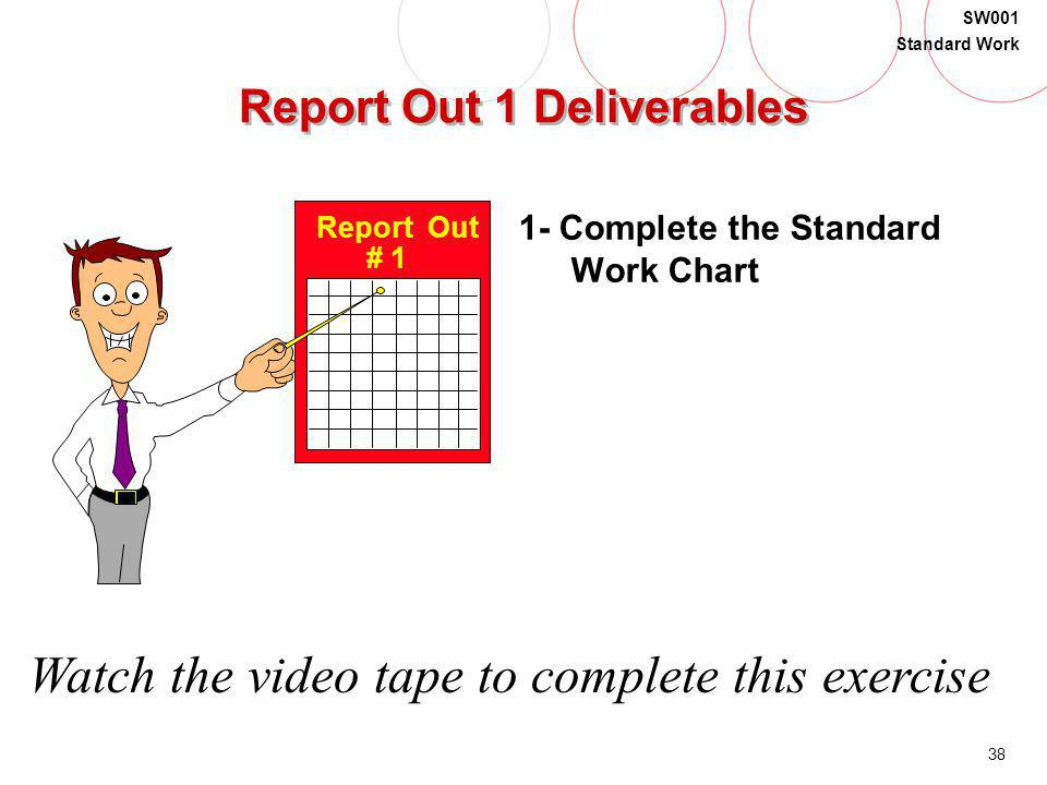 Report Out 1 Deliverables