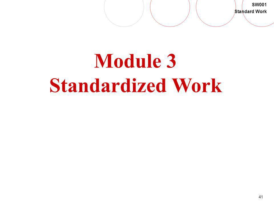 Module 3 Standardized Work