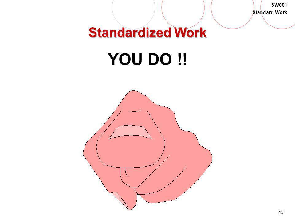Standardized Work YOU DO !!