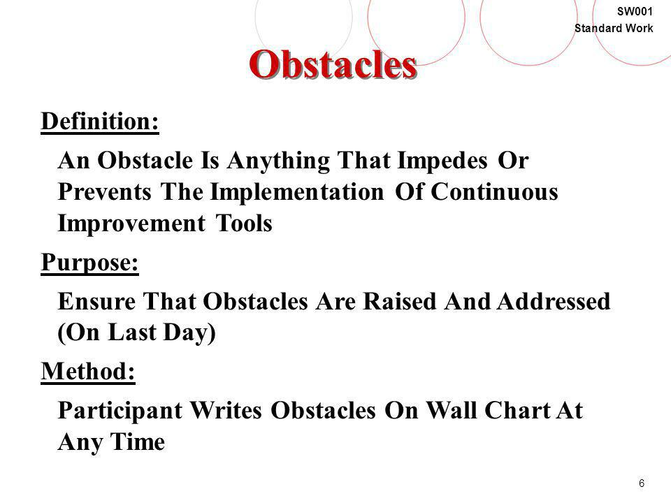 Obstacles Definition: