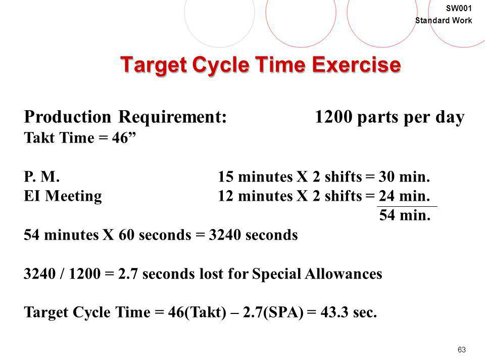 Target Cycle Time Exercise