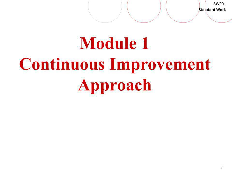 Continuous Improvement Approach