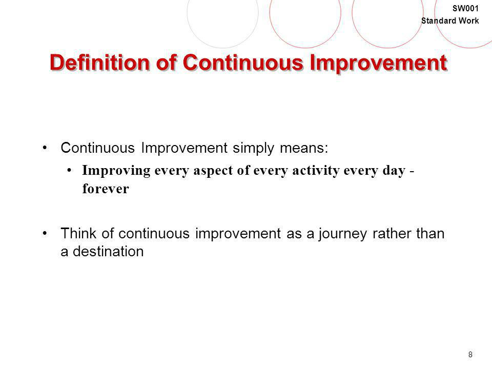 Definition of Continuous Improvement