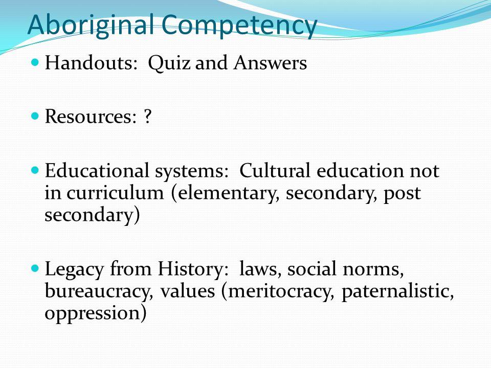 Aboriginal Competency