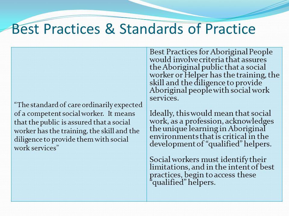 Best Practices & Standards of Practice