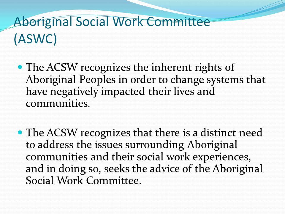 Aboriginal Social Work Committee (ASWC)
